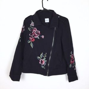 Kensie floral embroidery jacket
